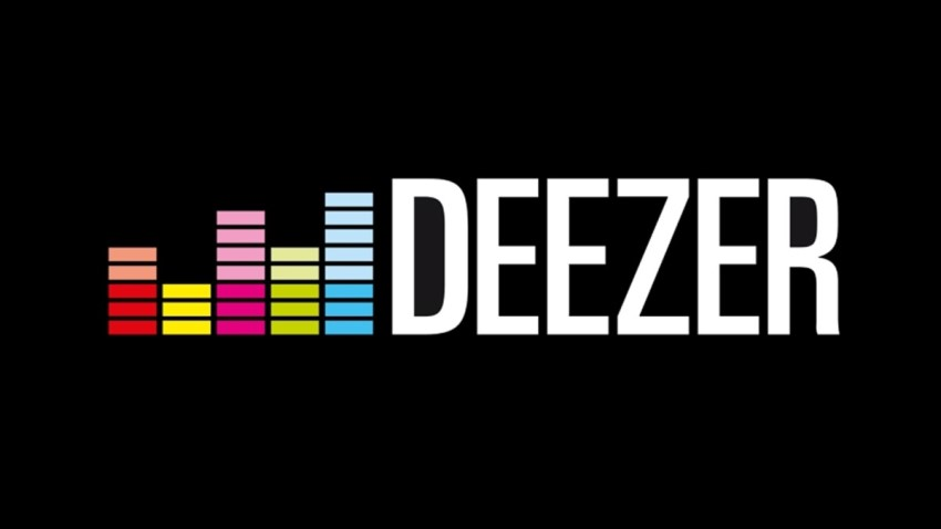 A logo of Deezer - a tool for searching music