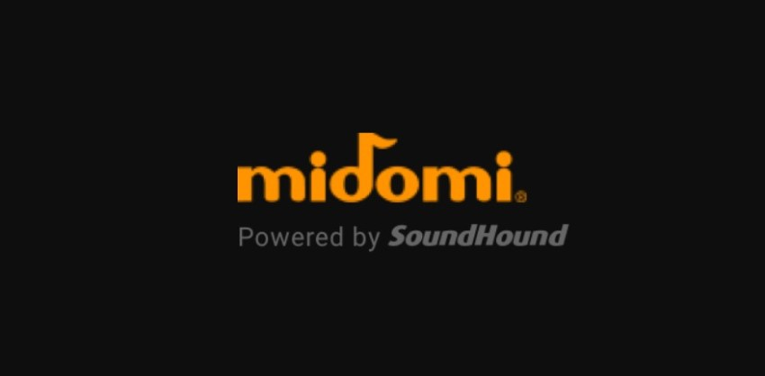 Logo of Midomi application and website for searching music