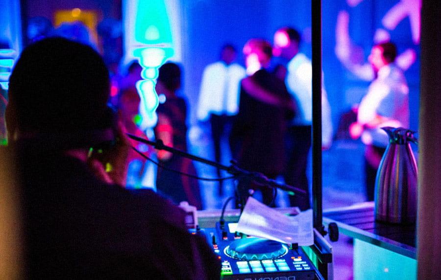 DJ playing music in a club